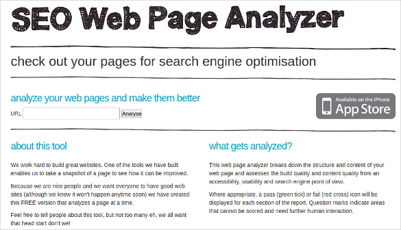 SEO Web Page Analyzer
